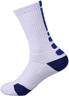 WZDSNDQDY Calcetines de Tubo para Hombre, 6 Pares, Calcetines de Baloncesto, Material de algodón, ponible, Mano Suave y Duradera.