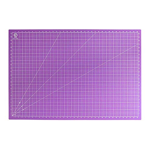 KC GLOBAL A1 (38 x 26 in.) Professional Self-Healing Cutting Mat (Purple) - Odor-Free, Double-Sided, Eco-Friendly, Non-Slip, Premium Desk Mat for Hobby, Rotary Cutter, DIY, Crafts, Sewing and Quilting