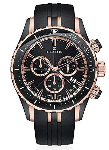 EDOX Herren-Armbanduhr Grand Ocean Chronograph Datum Analog Quarz 10248 357RN NIRR