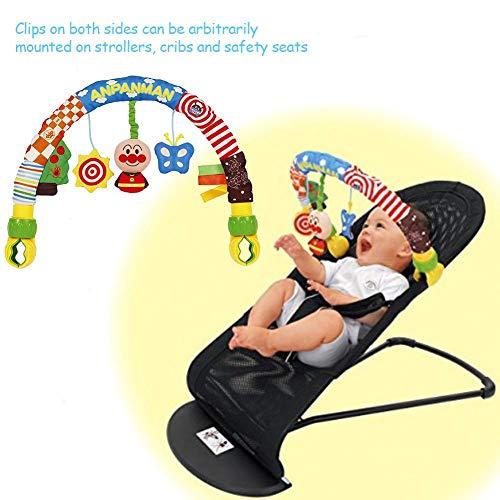 Sillita Bebe Juguetes Sonajeros Juguetes Para Bebes Juguete Carro Bebe Baby Travel Play Arch Stroller Trolley Bed Bell Colgante Toy Colgante Sound- Paper Calmar Baby Doll Plush Clip Stroller Play Arch