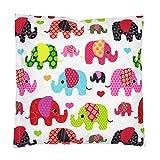 TupTam Kissenhülle Dekorativ Gemustert, Farbe: Elefant Rosa, Größe: 80x80 cm