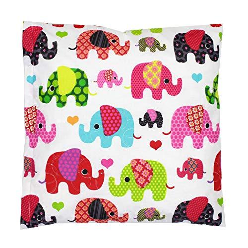 TupTam Kissenhülle Dekorativ Gemustert, Farbe: Elefant Rosa, Größe: 40 x 40 cm