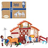 DreamWorks Spirit Riding Free Spirit Horse Play Paddock, 21 Pieces Includes Lucky Small Doll, Spirit and Stella Horses