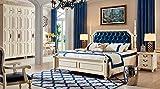 JVmoebel Cama de agua colonial, estilo antiguo, cama Chesterfield, cama barroca, matrimonio, estilo barroco