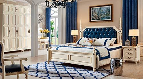 JVmoebel Cama de matrimonio clásica estilo Chesterfield de madera para hotel 806
