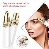 Augenbrauen Rasier USB,Augenbrauen Trimmer Gesichtshaarentferner für Frauen,Schmerzloser Elektrischer Epilierer Eyebrows Hair Remover für Pfirsichfussel/Gesichtshaar/Lippe/Kinn/Nase - 4