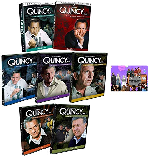 Quincy, M.E.: Complete TV Series Seasons 1-8 DVD Collection with Bonus Art Card