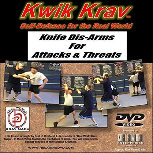 Knife Defense & DIS-ARMS for Attacks & Threats, Krav MAGA for Personal Protection Training DVD