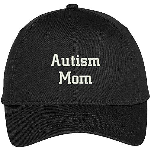 Trendy Apparel Shop Autism Mom Embroidered Awareness Baseball Cap - Black