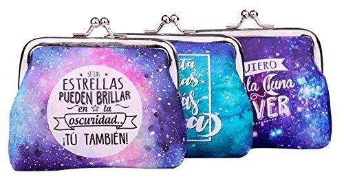 Lote 24 Monederos Universo Galaxia con Frases - Monederos Originales y Baratos...