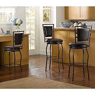 Barstool / Height Adjustable Bar Stools, Oh! Home Harold Contemporary Adjustable Stools with Swivel Seat OSLN1291, Set of 3