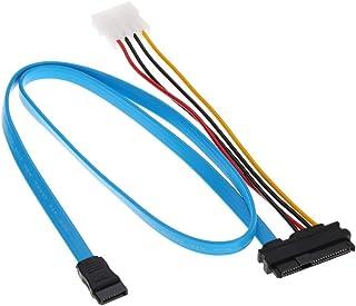 كبل ساتا مزود ب 29 دبوس ساس مع موصل طاقة LP4 وكَبل بيانات خدمة ساتا 7 دبوس