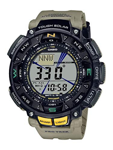 Casio Men's Quartz Sport Watch with Resin Strap, Khaki, 27 (Model: PRG-240-5CR)