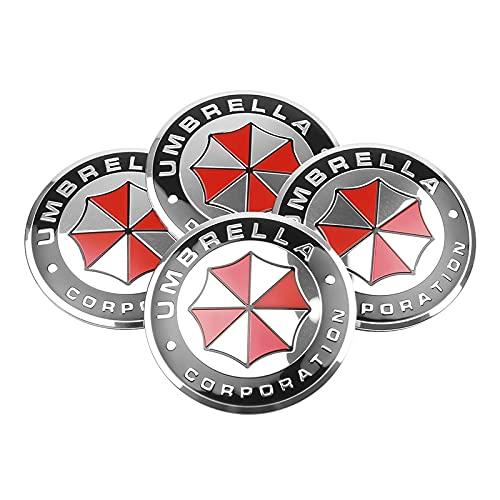 LPL 4pcs 56mm 3D Emblem Coche Centro de Ruedas Cap COPTH Rim Pegatina Calcomanías Compatible con Toyota Peugeot Suzuki Citroen Skoda (Color Name : For Umbrella)