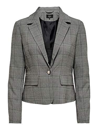 ONLY Damen Sakko onlMUST Nice FITTTED L/S Blazer TLR, Farbe:Grau, Größe:42