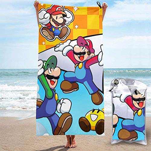 HKYP Toalla de Playa Bath Towel Super Smash Bros Mario Bath Towel Quick Drying Travel Beach Camping Yoga Gym Pool Towels Beach Chairs Soft Towel 27.5 X 55 Inches 27.5 x 55 Inches