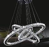 Araña de cristal colgante de techo Tenlion, 30cm x 50cm x 70cm, blanco frío.