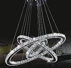 Idea Regalo - Tenlion Lampada a sospensione di cristallo luce di soffitto di 30cm * 50cm * 70 centimetri Neutral White