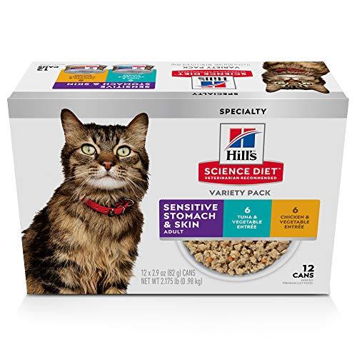 Hill's Science Diet Wet Cat Food, Sensitive Stomach & Ski