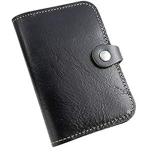 ブラック 名刺入れ パスケース 本革 革小物 カードケース カード入れ メンズ ビジネス カジュアル 本革 ローハイドレザー 日本製 プレゼント ギフト 父の日 ナイロンカード入れ PRRO-C003-BK_g5