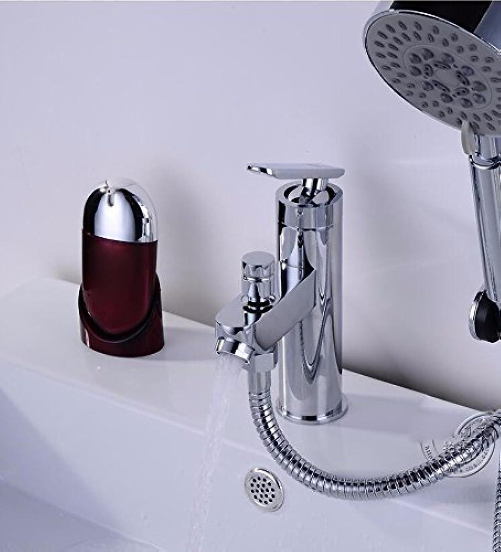 MMYNL TAPS MMYNL Waschtischarmatur Bad Mischbatterie Badarmatur Waschbecken Antike Heie und Kalte Einloch Doppelzimmer mit Dusche Badezimmer Waschtischmischer