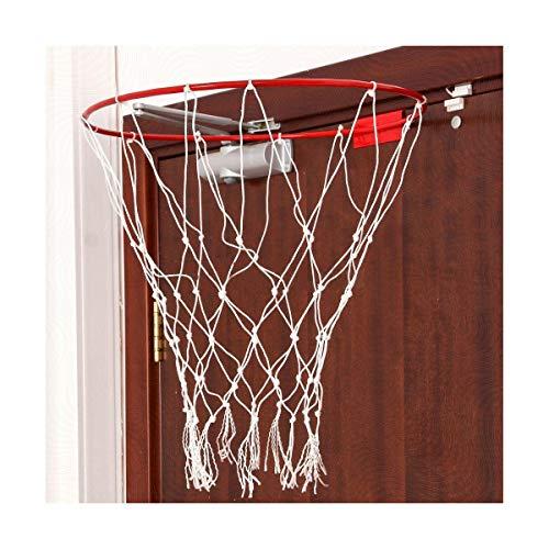 STM-Sport - Anillo de baloncesto para la puerta de 45 cm, canasta de baloncesto con red para niños, para interior y exterior, anillo con red
