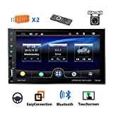 Autoradio 2 Din Double USB CAMECHO Écran Tactile Complet capacitif de 7 Pouces Bluetooth Lien Miroir pour téléphone...