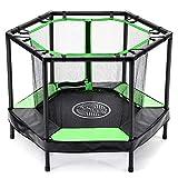 AOKCOS Kinder-Trampoline Mini-Trampoline mit Netz und Sicherheitspolster - Kleinkind-Trampolin für...