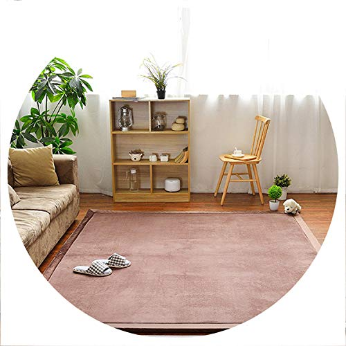 world-palm Home Carpet Coral Fleece Rug 2CM Thickness Tatami Carpet 180X200CM Living Room Rug Bedroom Mat Baby Play Mat,Coffee,200X200CM 78X78IN