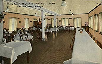 Dining Room of Original Irish Hills Hotel, U.S. 112, Irish Hills District, Michigan Original Vintage Postcard