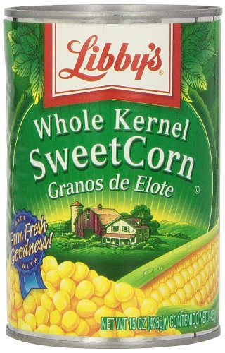Libby's Whole Kernel Sweet Corn, 15.25-Ounce Cans (Pack of 24)