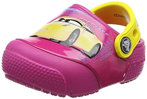 Crocs Fun Lab Lights Cars 3 Clog, Unisex - Kinder Clogs, Pink (Candy Pink), 33/34 EU