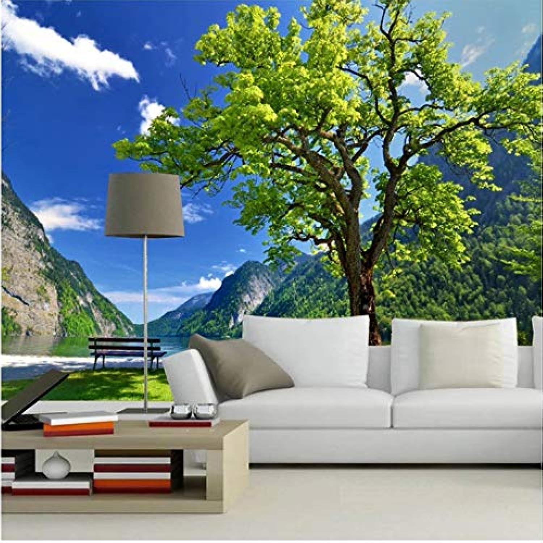 calidad de primera clase Papel Tapiz Fotográfico Paisaje Pastoral árboles árboles árboles Sala De Estar Sofá Dormitorio En 3D Fondo De Tv Revestimiento De Parojo Mural Papel Tapiz 3D 200X140 Cm  la red entera más baja