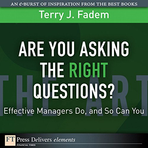 Are You Asking the Right Questions cover art