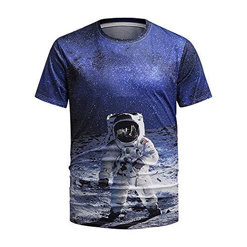 Unisex 3D Impreso Verano Manga Casual Casual T Shirts Tees Patrón 3D Impreso Manga Corta Camisetas Adecuadas para Adolescentes/niños/niñas/Hombres/Mujeres/Parejas,Dt1003,M