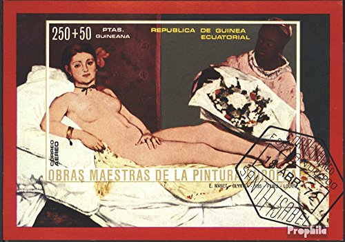 Prophila Collection Äquatorialguinea Block75 (kompl.Ausg.) 1973 Aktgemälde europäischer Maler (Briefmarken für Sammler) Malerei