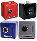 Combination Money-Box Safe (Color May Vary - Black, Red, Blue)