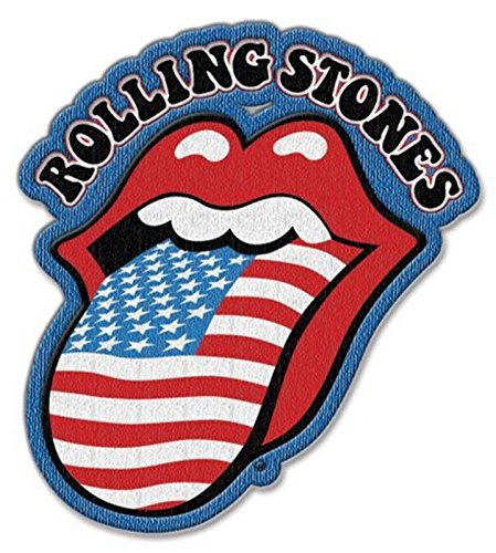 The Rolling Stones Patch US Flag Tongue Band Logo Nue offiziell Iron on