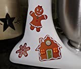 Gingerbread Men Cookie Assortment Christmas Holiday Kitchen Decal Kit Mixer Machine Art Wrap