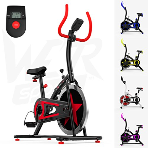 We R Sports Aerobico Formazione Esercizio Bici Ciclo Fitness Cardio Allenamento Casa Ciclismo Corsa Macchina (Red)