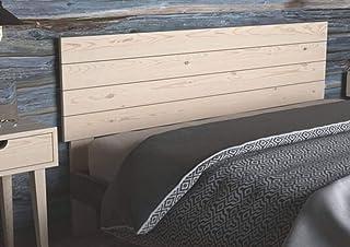 LA WEB DEL COLCHON - Cabecero de Madera Rústico Vintage para Cama de 135 (145 x 90 cms.) Crudo sin Pintar | Cabeceros Madera | Dormitorio Matrimonio | Cabezal Cama |Estilo nórdico