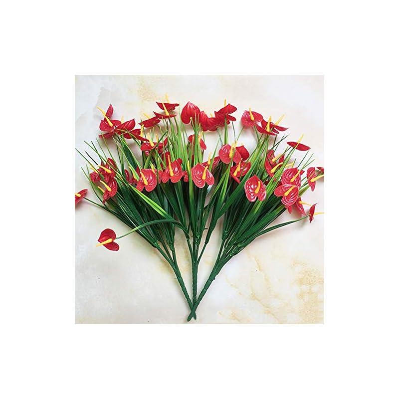 silk flower arrangements super1798 1 bouquet artificial anthurium flower diy wedding party home decor fake plant
