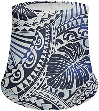 LEJIA Polynesian Tattoo Plam Leaves Desk Lamp Shade Polyester Fabric Home Office Lampshades product image