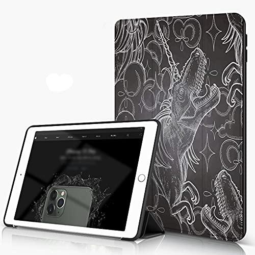 She Charm Carcasa para iPad 10.2 Inch, iPad Air 7.ª Generación,Dinosaurios gráficos,Incluye Soporte magnético y Funda para Dormir/Despertar