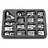 Presser Foot Set 16Pcs - Professional Professional Presser Feet Set Accesorios de máquina de Coser multifunción para Brother, Singer - Organización fácil y ordenada(Cardboard Box)