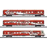 Minitrix-3er-Set Personenwagen Der DB Coca-Cola - Juego de 3 sillas de Paseo (15708)