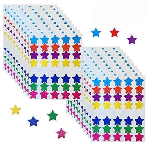 "800 Counts Foil Star Metallic Stickers Reward Star Stickers Labels,0.6"" Diameter,8 Colors Self-Adhesive Foil Star Stickers"