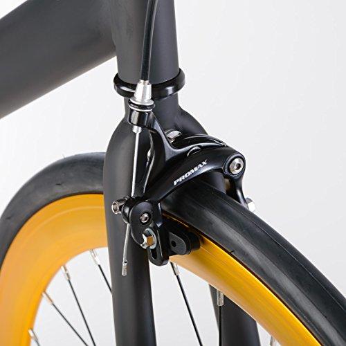 bonvelo Singlespeed Fixie Fahrrad Blizz Heart of Gold (XL / 59cm für Körpergrößen ab 181cm) - 4