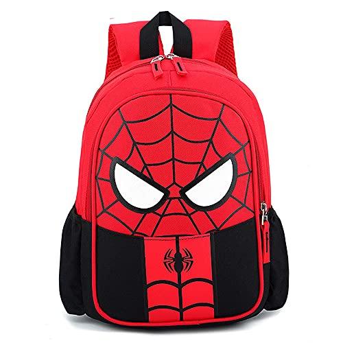 CHUANGOU Zaino per bambini Spiderman , Borsa 3D impermeabile, Zaino Super Hero 3D Zaino Borse per bambini Campeggio Escursionismo.