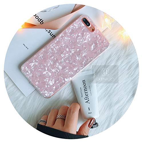 Fashion-Lover - Carcasa para iPhone X, diseño de lentejuelas, color rosa